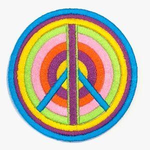 Accessories - Peace Sign Patch iron on hippie rainbow DIY boho